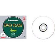 LM-HC47LW5 [DVD-RAM 4.7GB 3倍速対応 5枚 インクジェットプリンター対応]