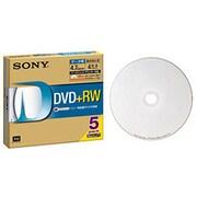 5DPW47HPS [データ用DVD+RW インクジェットプリンター対応ホワイトレーベル 5枚]
