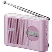 ICF-M55 P [FM/AM PLLシンセサイザーハンディーポータブルラジオ ピンク ワイドFM対応]