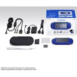PSP(プレイステーション・ポータブル) メタリックブルー バリューパック PSPJ-20003