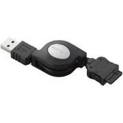 MPA-RTCWUSB/BK [au WIN対応 携帯電話用データ転送・充電USBケーブル 自動巻き取り式タイプ 0.7m]