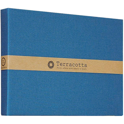 TER-2LP-85-B [Terracotta(テラコッタ)シリーズ 溶着式ポケットアルバム 2L判ヨコ ブルー]