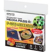 EDC-CML1-10D [CD/DVD用ソフトケース MEDIA PASS+ 1枚収納 黒 10枚]