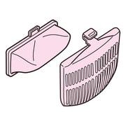 NET-KD8BX [糸くずフィルター 洗濯乾燥機・全自動洗濯機用 下部糸くずフィルター・カバー(各2個入)]