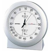 EX-2767 [スーパーEX 高品質 温度・湿度計 シャインシルバー]