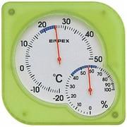 TM-5603 [シュクレmidi 温度・湿度計 クリアグリーン]