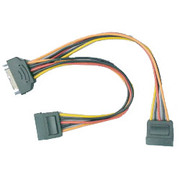 OWL-CBPU013 [電源分配ケーブル SATA用15ピン電源オス → SATA用15ピン電源コネクタメス×2 15cm]