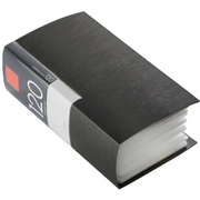 BSCD01F120BK [CD/DVDファイル ブックタイプ 120枚収納 ブラック]