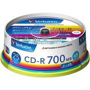 SR80FP25V1 [データ用CD-R 700MB 48倍速 スピンドルケース インクジェット対応 25枚]