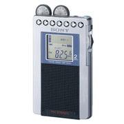 SRF-R431 S [FMステレオ/AM 名刺サイズラジオ イヤホン巻き取り ワイドFM対応]
