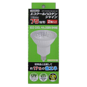 JDR110V50WUVWKH2E112 [白熱電球 ハロゲンランプ E11口金 110V 75W形(50W) 50mm径 広角 2個入]