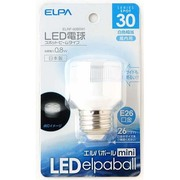 ELRF-02B/W [LED電球 E26口金 白色 40mm径 LED elpaball mini(エルパボール ミニ)]