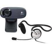 C310h [USB接続 WEBカメラ 120万画素 ヘッドセット付モデル Logicool HD Webcam C310h]