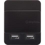 """TR-DUSLIDE2A-BK [2ポート2A USB充電器 """"Dual USB Charger Slide 2A(デュアル・ユーエスビー・チャージャー・スライド・ツーエー)"""" ブラック]"""