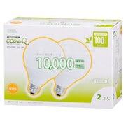 EFG25EL/20-2P [電球形蛍光灯 E26口金 100W電球タイプ 電球色 エコデンキュウ G25形(20W) 2個入り]
