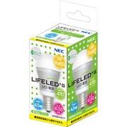 LDA5N-H-E17 [LED電球 E17口金 昼白色相当 470lm 密閉器具対応 LIFELED'S]