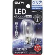 LDT1CN-G-E12-G105 [LED電球 ナツメ球タイプ E12口金 昼白色 クリア 18lm LED elpaball mini エルパボール ミニ]