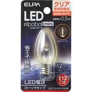LDC1CL-G-E12-G306 [LED電球 ローソク球タイプ E12口金 電球色 クリア 15lm LED elpaball mini エルパボール ミニ]