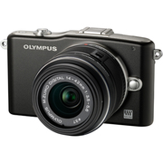 OLYMPUS PEN mini E-PM1 レンズキット [オリンパス ペン ミニ ボディー ブラック+「M.ZUIKO DIGITAL 14-42mm F3.5-5.6 II R ブラック」]