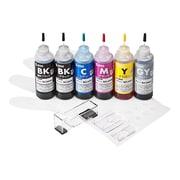 INK-C326S60S6R [詰め替えインク6色セット キヤノンBCI-325PGBK・326BK・C・M・Y・GY用 60ml]