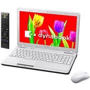 PT551T4EBFW [dynabook Qosmio T551/T4EW 15.6型ワイド液晶/HDD640GB/ブルーレイディスクドライブ ベルベッティホワイト]