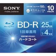 10BNR1VGPS4 [ビデオ用ブルーレイディスク インクジェット対応ワイド(BD-R 1層:4倍速)10枚パック]