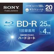 20BNR1VGPS4 [ビデオ用ブルーレイディスク インクジェット対応ワイド(BD-R 1層:4倍速)20枚パック]