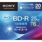 20BNR1VGPS6 [ビデオ用ブルーレイディスク インクジェット対応ワイド(BD-R 1層:6倍速)20枚パック]
