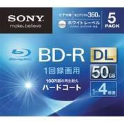 5BNR2VGPS4 [ビデオ用ブルーレイディスクインクジェット対応ワイド(BD-R 2層:4倍速)5枚パック]