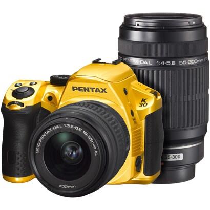 K-30 ダブルズームキット クリスタルイエロー [ダブルズームキット 「smc PENTAX-DA L 18-55mm F3.5-5.6 AL」+「smc PENTAX-DA L 55-300mm F4-5.8 ED」]