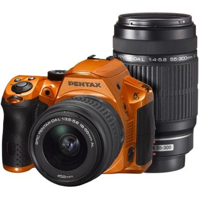 K-30 ダブルズームキット クリスタルオレンジ [ダブルズームキット 「smc PENTAX-DA L 18-55mm F3.5-5.6 AL」+「smc PENTAX-DA L 55-300mm F4-5.8 ED」]