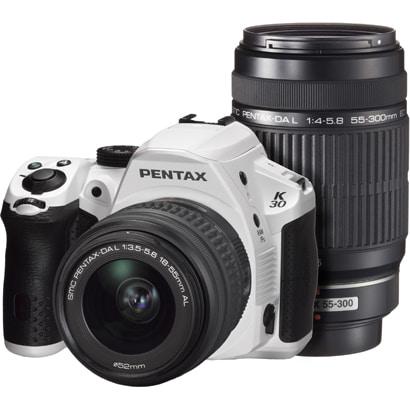 K-30 ダブルズームキット シルキーホワイト [ダブルズームキット 「smc PENTAX-DA L 18-55mm F3.5-5.6 AL」+「smc PENTAX-DA L 55-300mm F4-5.8 ED」]