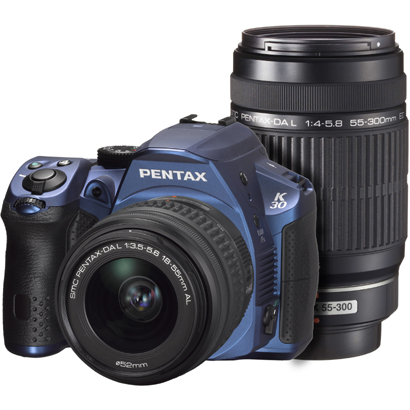 K-30 ダブルズームキット シルキーブルー [ダブルズームキット 「smc PENTAX-DA L 18-55mm F3.5-5.6 AL」+「smc PENTAX-DA L 55-300mm F4-5.8 ED」]