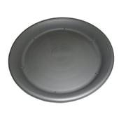 素焼風受皿 12号 セサミグレー