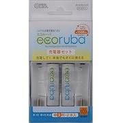 BT-JUTK1/G32 [ECORUBA 充電器セット 単3・単4形電池兼用 単3形ニッケル水素電池2本付 最大4本まで充電可能]