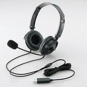 HS-HP20UBK [USBヘッドセットマイクロフォン 両耳オーバーヘッド 1.8m 折り畳み式 40mmドライバ ブラック]