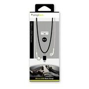 TR-MUS-BK [Micro-USBポート用 ネックストラップ ブラック]