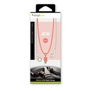 TR-MUS-FL [Micro-USBポート用 ネックストラップ フラミンゴ]