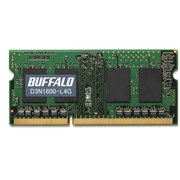 D3N1600-L4G [PC3L-12800(DDR3L-1600)対応204Pin用DDR3 SDRAM S.O.DIMM 4GB]