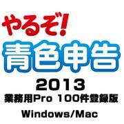やるぞ!青色申告2013 業務用Pro 100件登録版 for Win&Mac [Windows/Mac]