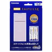 TNHC-32AS MB(P) [IMPULSE(インパルス)充電器セット 単3・単4形電池兼用 単3形ニッケル水素電池2本付 最大2本まで充電可能 USBモバイル対応 ピンク]