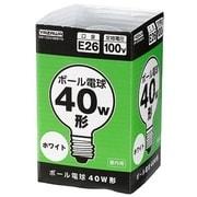 GW100V38W70 [白熱電球 ボール電球 E26口金 100V 40W形(38W) 70mm径 ホワイト]