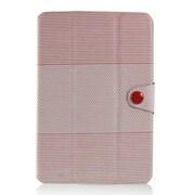 J-04213-2 [iPad mini PUレザーケース ハニカムボーダー レッド]