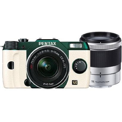 Q7 ダブルズームキット メタルグリーン/ホワイト 107 [ボディ+交換レンズ「PENTAX-02 STANDARD ZOOM」「PENTAX-06 TELEPHOTO ZOOM」]