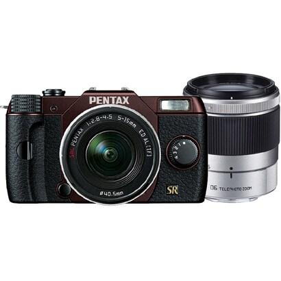 Q7 ダブルズームキット メタルブラウン/ブラック 112 [ボディ+交換レンズ「PENTAX-02 STANDARD ZOOM」「PENTAX-06 TELEPHOTO ZOOM」]