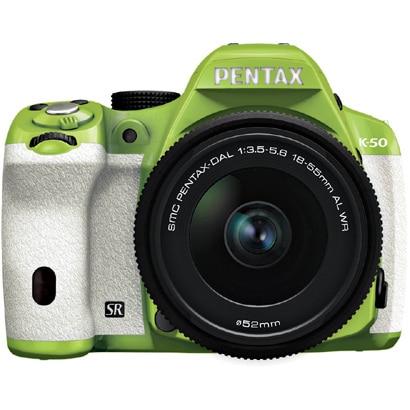 K-50 レンズキット グリーン/ホワイト 035 [ボディ+交換レンズ「smc PENTAX-DA L 18-55mmF3.5-5.6AL WR」]
