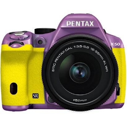 K-50 レンズキット パープル/イエロー 045 [ボディ+交換レンズ「smc PENTAX-DA L 18-55mmF3.5-5.6AL WR」]