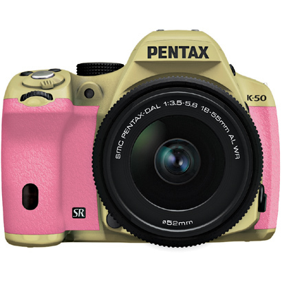 K-50 レンズキット サンドベージュ/ピンク 062 [ボディ+交換レンズ「smc PENTAX-DA L 18-55mmF3.5-5.6AL WR」]