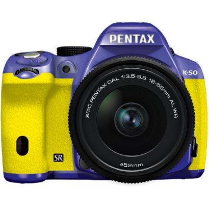 K-50 レンズキット バイオレット/イエロー 087 [ボディ+交換レンズ「smc PENTAX-DA L 18-55mmF3.5-5.6AL WR」]