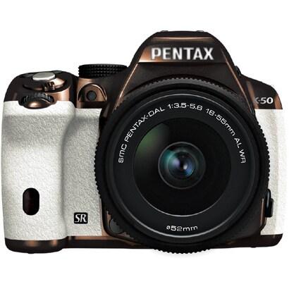 K-50 レンズキット メタルブラウン/ホワイト 113 [ボディ+交換レンズ「smc PENTAX-DA L 18-55mmF3.5-5.6AL WR」]
